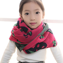 Scarf Children Girls New 2017 Children's Imitation Cashmere Jacquard Korean Version Of The Winter Thick Manufacturers Wholesale(China)