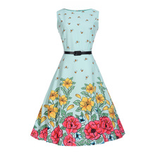 2017 New Girl Dress Summer Kids Vest Dress Floral Print Girl Princess Dresses teenager 2-20 years Party Mother&daughter clothing