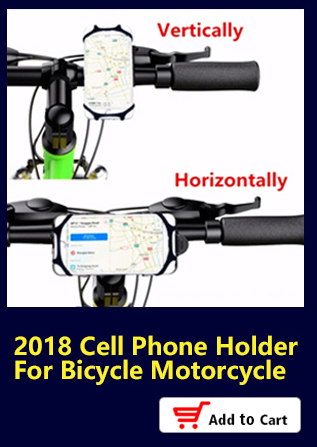 2018 Cell Phone Holder for Bicycle Motorcycle Universal Silicone Bike Handlebar Mount for iPhone X 8 7 Plus