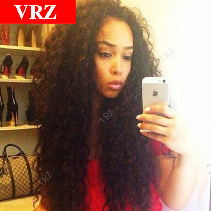 Virgin Brazilian Full Lace Human Hair Wigs Front Lace Wigs Curly 130% Density Glueless Lace Front Human Hair Wig For Black Women<br><br>Aliexpress