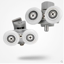 4 pairs can adjust High quality nylon shower door roller.sheave wheels(China)