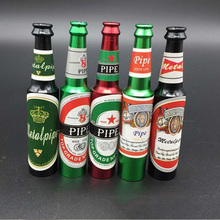 Small Mini Beer Bottle Metal Pipe Many Colors Creative Cheap Smoking Pipes Best Gift For Smoker Portable Tobacco Pipe