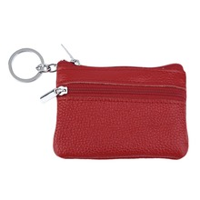 2017 Fashion Red Practical Leather Wallet Mini Bus Card Pack Purse Creative Korean Style Zipper Key Coins Coin Bags