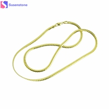 Long New Fashion Gold Necklace Snake Link Chains Men Jewelry Gift Snake Necklace(China)