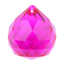 10pcs/lot 30mm Fuchsia chandelier hanging drop crystal glass faced ball Glass lighting ball for wedding room decor