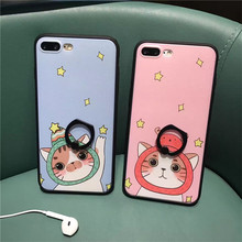 Cool Cartoon Baer Peach Phone Case for Iphone 7 Lovely Foods Soft Transparent Cover for Iphone 7 6 6s Plus Couples Phone Case