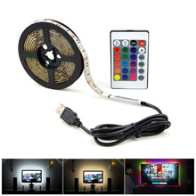 IP20 3528 5050 SMD 2m 3m 4m 5m 5V USB2.0 cable power supply USB LED strip light USB charger adapter led light RGB LED controller