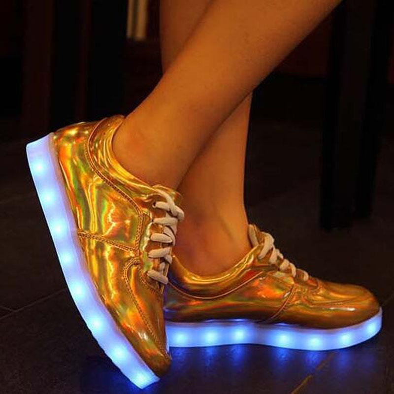 Led Shoes For Men Fashion Light Up Casual Shoes For Adults 8 Colors Outdoor Glowing Unisex men light up shoes Plus size 35-49<br><br>Aliexpress