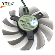 75mm Everflow T128010SH 4Pin DC 12V 0.25A Cooling Fans For ASUS MSI R6850 6850 HD6850 Graphics Video Card Cooler Fan