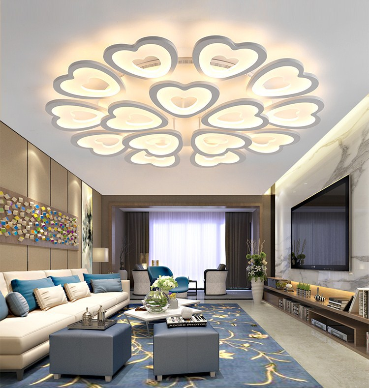 Atmospheric Living Room Lamp Round Simple Roof Lighting Bedroom Warm Romantic Lighting Restaurant Studio Lamps Ceiling Lights Aliexpress