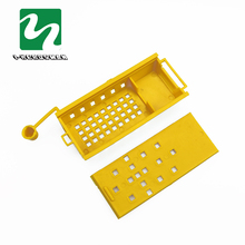 50pcs Bee Feeding Device Prisoners Wang cage Bee isolation tools Transport House Yellow Power cut honey knife Honey