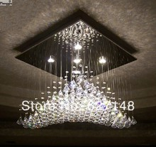 2014 promotion sales guaranteed 100% K9 crystal contemporary chandeliers modern home light L600*w600*h400MM
