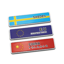 National Flag of Russia/USA/Sweden/Italy/Japan/Korea/Germany/EU metal car styling,car window tail decor 3D stickers and decals