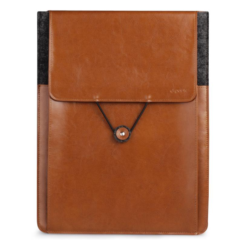 Free Shipping D-park Vintage Envelope Sleeve Woolfelt &amp; Leather Case for surface1/2 for Microsoft Surface RT/Pro Case<br>