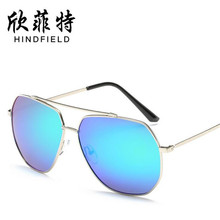 Wholesale Fashion colorful multicolor Men Polarized sunglasses Unisex Alloy frames glasses women high definition lens Eyeglasses