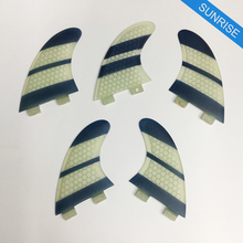 FCS Fin Carbon Fiber K2.1 Fin Honeycomb White And Black Surf Board Fins  Fibreglass in Surfing quilhas de Thruster Fin