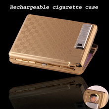 Multifunction Cigarette Case Lighter USB Rechargeable Windproof Environmental Protection Smoke No Gas Cigarette Lighter(China)