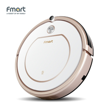 Fmart Mini Robot Vacuum Cleaner Battery Dry&Wet Sweeping Mop For Home Appliances Dust Cleaners 3 in 1 Vacuums ZJ-C1(China)
