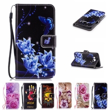 Flower Leather Wallet Phone Bag For Samsung Galaxy Grand Core Prime G530 G360 S3 J120 A3 A5 2017 J3 J5 S6 S7 S8 Plus Case Cover(China)