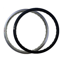 6061 Black / White Motorcycle Rim Aviation Aluminum Front Wheel Circle 1.85x21 36 Spoke Hole 185 x 21 1.85-21 High Strength