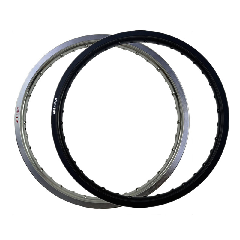 6061 Black / White Motorcycle Rim Aviation Aluminum Front Wheel Circle 1.85x21 36 Spoke Hole 185 x 21 1.85-21 High Strength(China (Mainland))