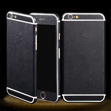 for Apple iPhone 5 5S SE 6 6S 6s Plus Luxury PU Leather Full Body Skin Sticker Fashion Cool DIY Front Back Cover Film