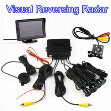 Rearview Camera Buzzer Car Parking Sensor Kit Visual Reversing Assistance Radar 22mm 4 Sensors Sound Alert System Car Monitor