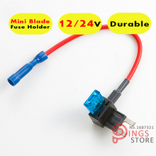 Mini Blade Fuse Tap Holder Add A Circuit Line ATM APM Car Truck Motorcycle Motorbike 5A,10A,15A,20A.25A,30A