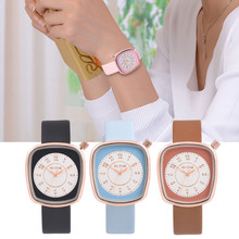 Fashion figure Ladies Quartz Clock Super Slim Quartz Wristwatch Fashion Ladies square Face Wristwatch Horloge Dames