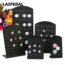 LASPERAL 24-72 Holes Stud Earrings Jewelry Display Stand Plastic Convenient Jewelry Holders Women Earrings Jewelry Organizers(China)
