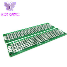 Free shipping  10pcs 2x8 cm double Side Copper prototype pcb 2*8 panel Universal Board for Arduino