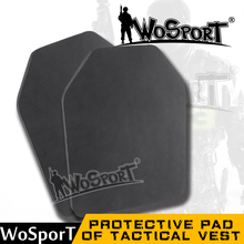 WoSporT Airsoft Outdoor Paintball Military Tactical Vest Back Baffle Protective Pad Shock Resistant EVA Dummy Ballistic Plate