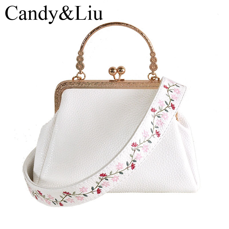 Chinese Bags Original Design Flowers Broadband Crossbody Purse Solid Bulk Female 2017 Autumn New Handbags Good Pu Leather<br>