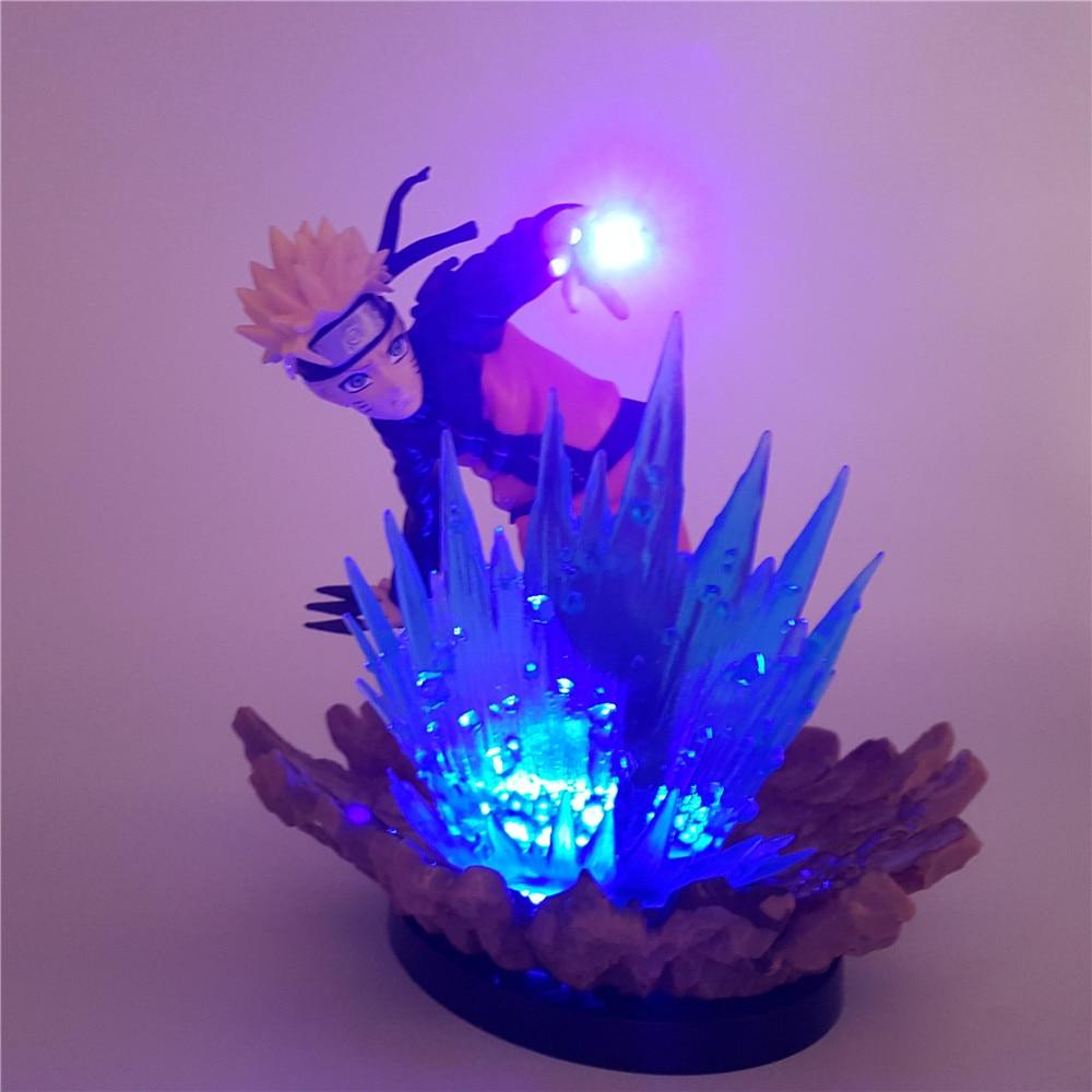 Naruto Uzumaki Naruto Anime Lampara 3D LED Action Figure Night Light Juguetes DIY Toys Decoration Lamp Table Lighting Luminaria