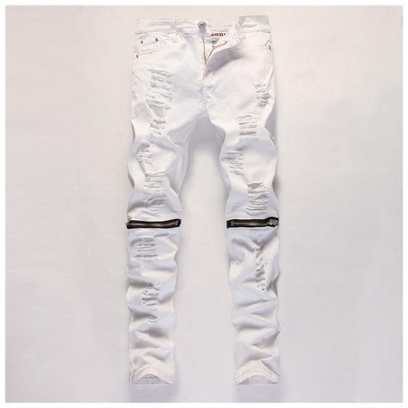 New Hi-Street Mens Black Ripped Jeans Men Plus Size Fashion Male Distressed Skinny Jeans Destroyed Cotton Denim Jeans PantsYA084Одежда и ак�е��уары<br><br><br>Aliexpress
