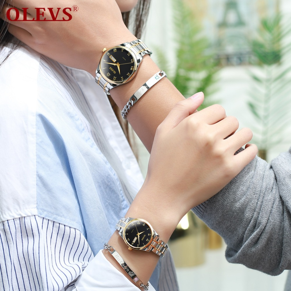 2019fashion Unique Men Women Quartz Watches Cool Full Stainless Steel Couples Lovers Watch Ladies Dress Wristwatch Men Watches C 100% High Quality Materials Lover's Watches