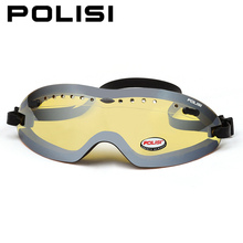 POLISI Skiing Snow Skate Eyewear Children Kids Outdoor Sport Ski Snowboard Goggles UV Protection Anti-Fog Yellow Lens Glasses(China)