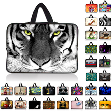 9.7 10 12 13 15 17 inch Tiger laptop bag tablet sleeve cases with handle PC handbag 13.3 15.6 14 inch computer notebook cover #6(China)