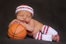 cosplay costume knitted suit newborn baby photography accessories dress up suits basketball football baby costume(China)