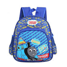 New Cartoon Children backpacks Blue Color Thomas Train backpack for Kids Backpacks children schoolbag(China)