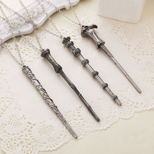 Movie Chain Necklaces Creative Xmas Hermione Dumbledore Voldemort Magic Charm Wand Pendent Necklace Woemen Lady Jewelry