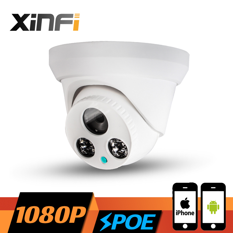 XINFI HD 1920*1080P POE camera 2.0 MP night vision Indoor dome network CCTV IP camera P2P ONVIF 2.0 PC&amp;Phone remote view<br>