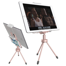 Portefeuille Cell Phone Tripod Dual Desktop Clip Holders Stand for iPhone 6 6S Plus 7 5 5S SE Galaxy S6 S5 iPad air mini Tablets
