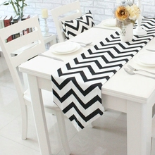 Nordic Style Striped Table Runner Modern Luxury Table Flag for Home Party Tea Table Cloth Cover Home Decoration Table Runners(China)
