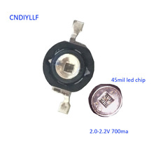 10 pcs LED IR Diode 3W 850nm 700ma Diode Chip Black LEDs Infrared Deep Red Emitter for CCTV Camera Security Night Vision