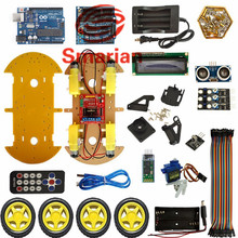 Official smarian DIY RC Bluetooth Smart Car Kit Multifunction Controlled Robot Kits for UNO Diy Wheeled Robotic Car Chassis Diy