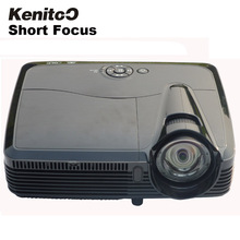 Short Focus DLP Projector 1024*768 Native Resolution 3600ANSI Lumens Home 3D Projector High Brightness Projector Free Shipping