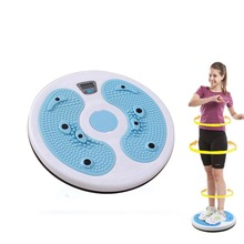 Electronic Figure Trimmer Twister Plate With Calorie Fitness Massage Magnet Waist Wriggling Waist Twisting Disk Twist Board(China)