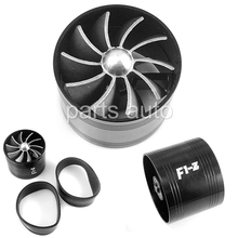 Universal Fit Supercharger Turbonator F1-Z Fuel Gas Saver SINGLE Fan BLACK new Economic(China)