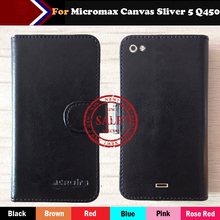 Micromax Canvas Sliver 5 Q450 Case Factory Price 6 Colors Fashion Customize Slip Leather Exclusive Protective Phone Cover